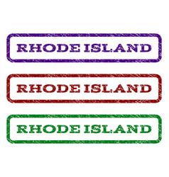 rhode island watermark stamp vector image vector image