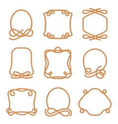 rope frame set vector image