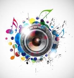 speaker design vector image vector image