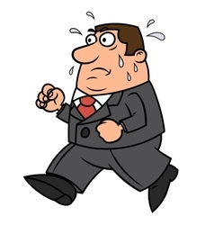 Tired running businessman vector image