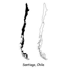 1042 santiago chile vector image