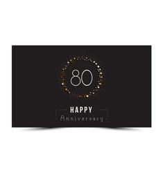 80 years happy anniversary card vector