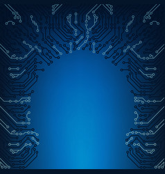 abstract blue technical technology printed vector image