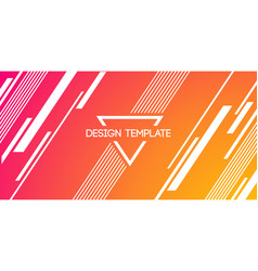 Abstract creative background banner with lines vector