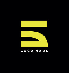 Abstract letters 5 logo vector