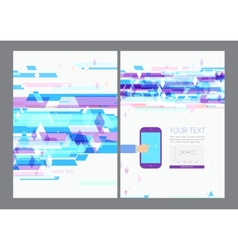 Abstract modern bright multicolored rectangles vector