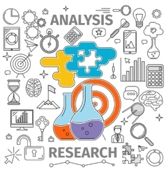 Analysis Research Concept vector