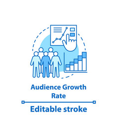 audience growth rate concept icon vector image