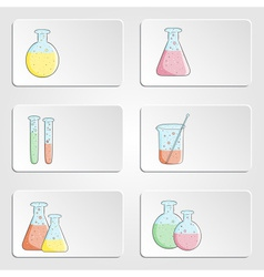 banners with laboratory test tubes vector image