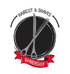 Barbershop vintage emblem vector