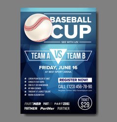 Baseball poster baseball ball design for vector