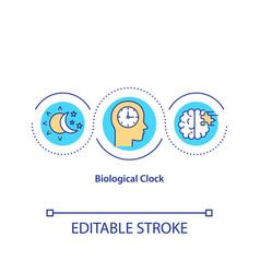 Biological clock concept icon vector