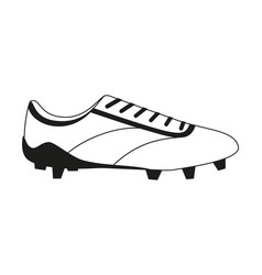 black and white flat soccer boots vector image