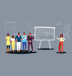 Businesspeople scheduling work agenda schedule vector