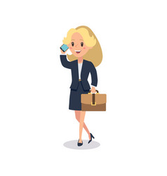 businesswoman character animate character young vector image