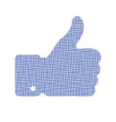 Canvas thumb up vector