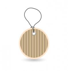 Cardboard tag vector