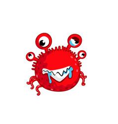 cartoon virus character isolated vector image