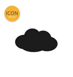 cloud icon isolated flat style vector image