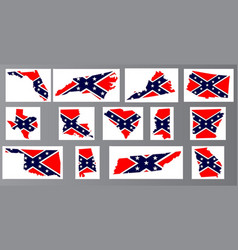 confederate flag maps vector image