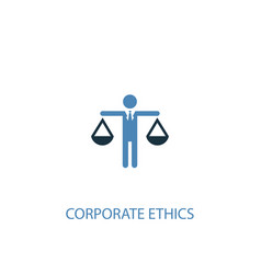 Corporate ethics concept 2 colored icon simple vector