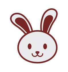 Cute bunny face image vector