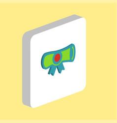 diploma computer symbol vector image