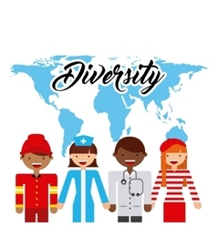 Diversity of world cultures vector