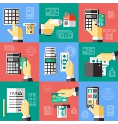 Electronic Financial Operations Set vector