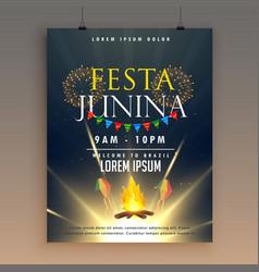 Festa junina celebration poster design template vector