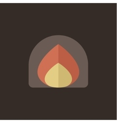 Fire fire flat style icon vector image