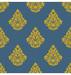 Flourish seamless pattern with bells vector image