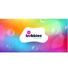 Fun liquid color background with bubbles fluid vector