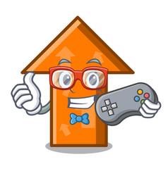 gamer arrow mascot cartoon style vector image
