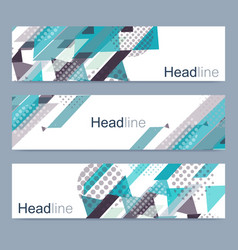 geometric set of modern banners abstract vector image