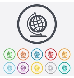 Globe sign icon Geography symbol vector image