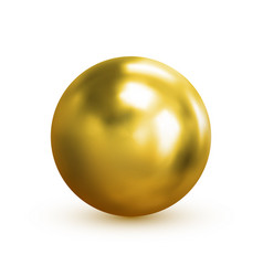 gold ball 3d eps 10 vector image