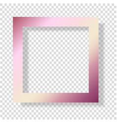 Gold rose foil smudge frame pink glossy grunge vector