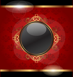 Golden frame for design packing vector image
