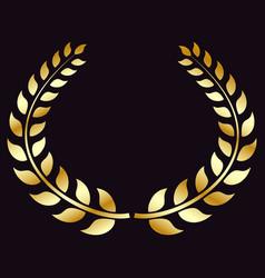 Golden laurel wreath symbol of victory triumph vector
