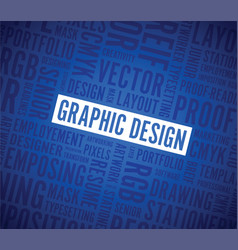 graphic design word background vector image