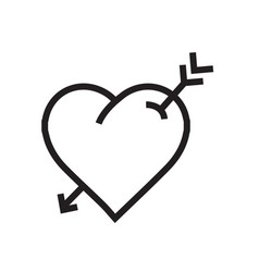 Heart arrow icon vector