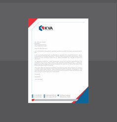 hexagonal blue and red letterhead vector image