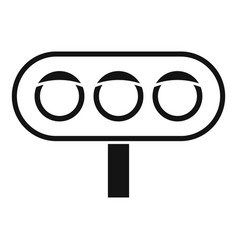 horizontal traffic lights icon simple style vector image