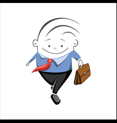 icon of the manager going to the consultation vector image