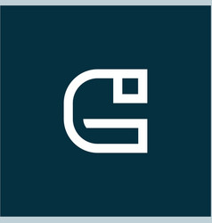 initial letter g logo template with abstract line vector image