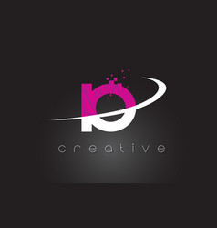 Io i o creative letters design with white pink vector