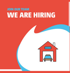 join our team busienss company house garage we vector image