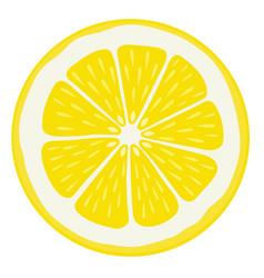 Lemon slice isolated vector