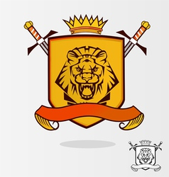 Lion coat of arms vector